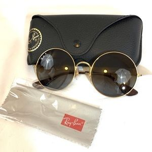 🔥NEW!🔥Ray-Ban Round Gold Rimmed Sunglasses